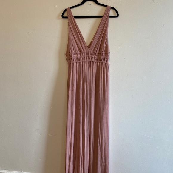 Mauve Side Cut Out Formal Long Maxi Dress